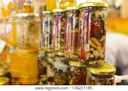 Honey With Dried Fruits And Nuts
