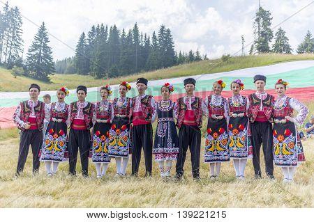 Bulgarian Dancers In Folklore Costumes
