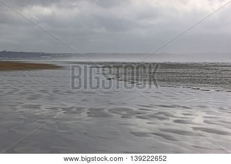 Beach at Saunton Sands in stormy weather