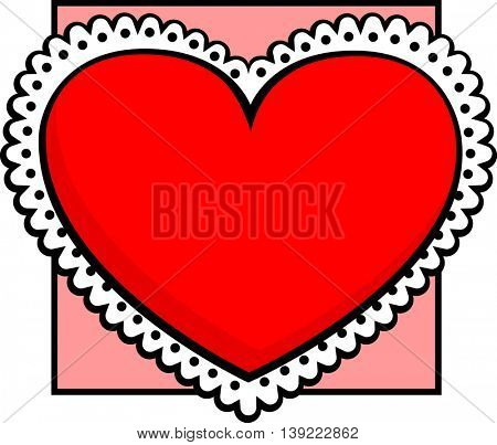 heart with lace decoration