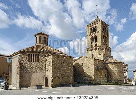 Romanesque Church of Santa Eugenia de Berga Catalonia Spain. Built in the eleventh century