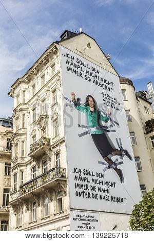 Advertising Of The Green Party Of Austria With  Slogan