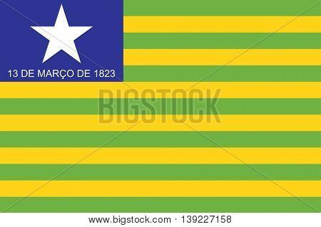 Vector Brazilian state Piaui flag