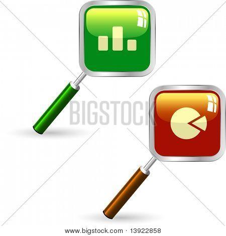 Business statistics vector. Diagram icons.