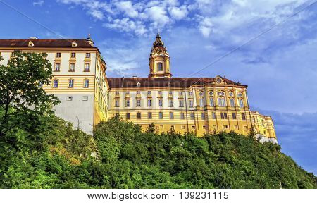Side of the famous Benedictine abbey, Melk, Austria