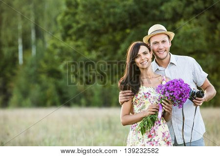 Young smiling couple
