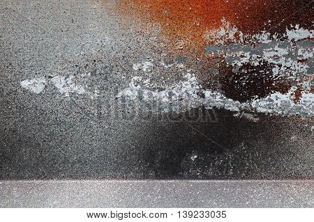 Different Peeled And Scratched Dyes On Rough Metal Surface 2