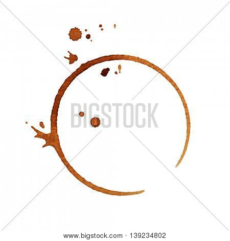 Coffee stain, isolated on white