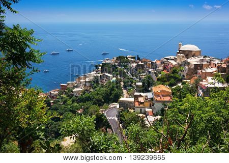 Positano is a cliffside village on southern Italy's Amalfi Coast on the Tyrrhenian Sea.