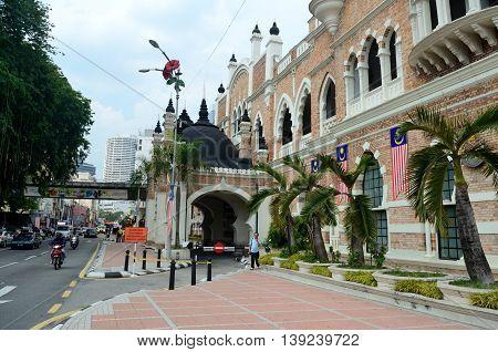 Kuala Lumpur/Malaysia - September 2012: Sultan Abdul Samad palace in Kuala Lumpur Malaysia