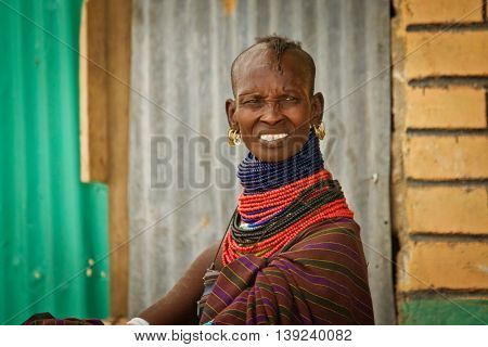 Turkana Woman In Traditional Clothes
