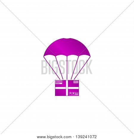 Gift Box Flying On Parachute, Delivery Service, Bonus Concept
