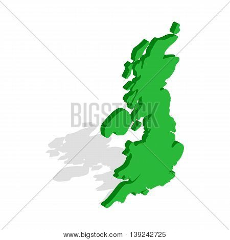 Map of Great Britain icon in isometric 3d style isolated on white background. Country symbol