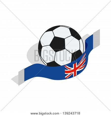 English football icon in isometric 3d style isolated on white background. Game symbol