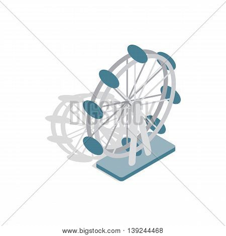 Ferris wheel icon in isometric 3d style isolated on white background. Entertainment symbol