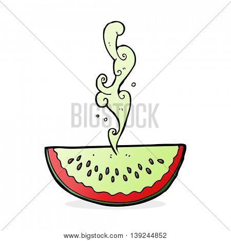 cartoon juicy squirting watermelon
