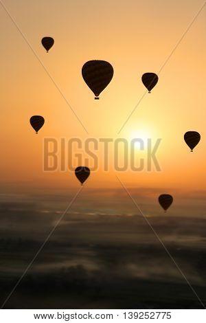 Hot Air Balloon, Egypt Sunrise