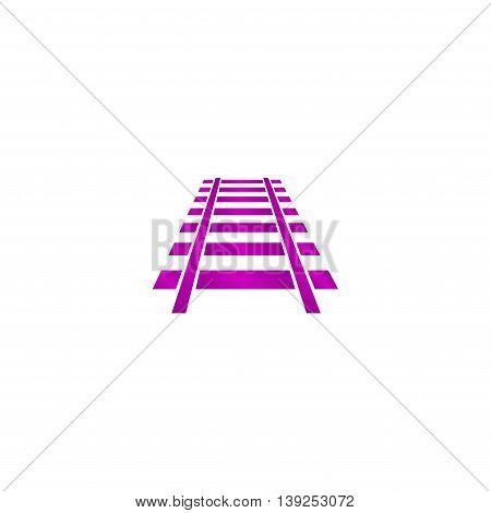 Railroad Icon. Modern Design Flat Style