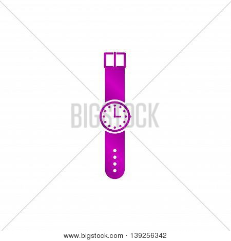 Wristwatch Icon. Flat