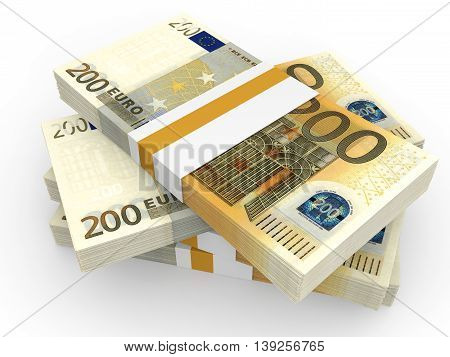 Stack Of Euro Banknotes.