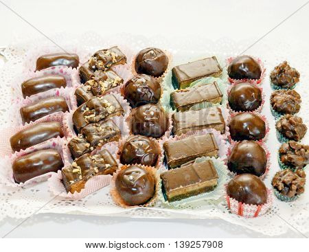 picture of a delicious homemade bonbons - sweet food