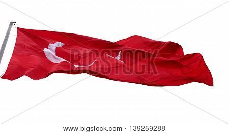 Waving In Wind Flag Of Turkey
