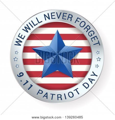 Patriot Day 9.11 digital sign with star. vector illustration