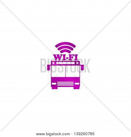 Bus Wi-fi Vector Icon