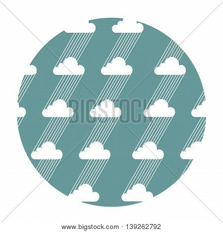 Seamless pattern with clouds and rain. Vector illustration