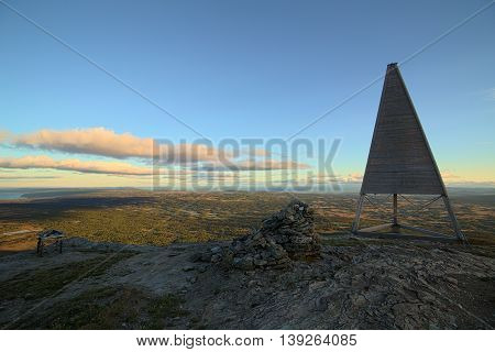 View From The Swedish Mountain Ansaett With Mountain Radio Station