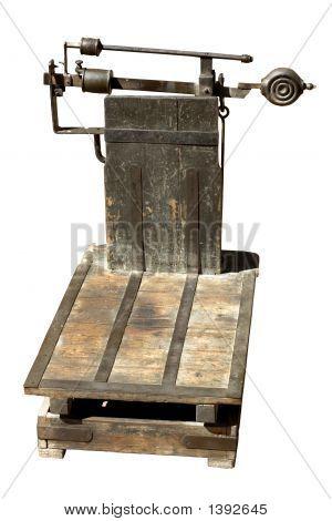 Antiga balança de plataforma