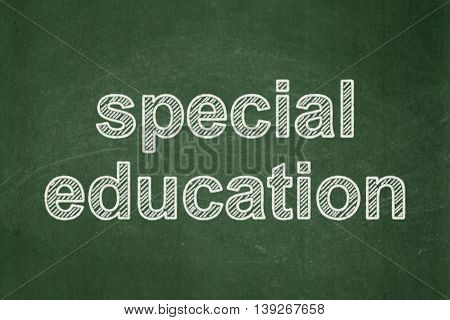 Education concept: text Special Education on Green chalkboard background