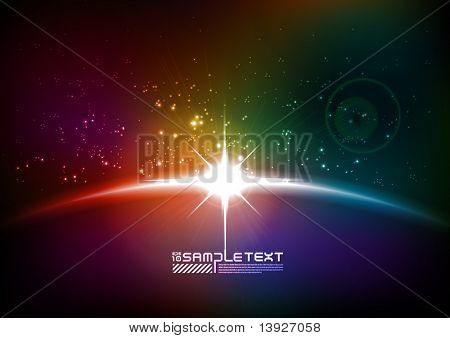 Colorful Vector Eclipse
