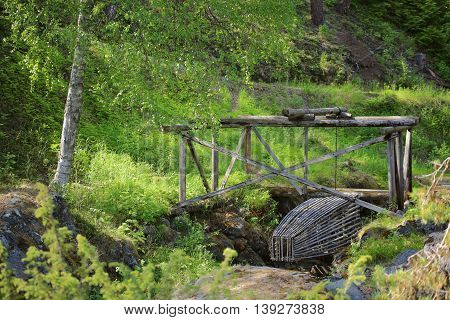 Historic Fish Trap In Naesaaker In Sweden, As It Was Used In The Stone Age