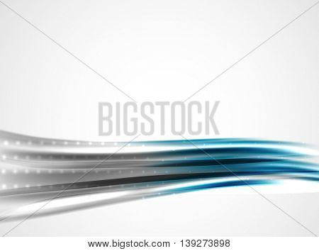 Shiny metallic wave curtain. Abstract background,