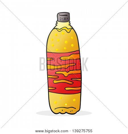freehand drawn cartoon fizzy drink