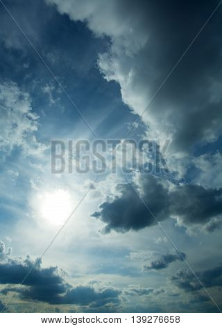 A dramatic Sky and moody clouds background.