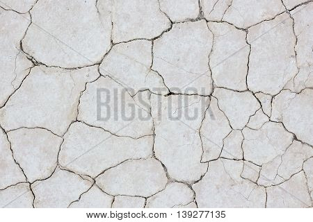 Background image of dry soil with cracks.