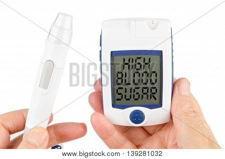 High Blood Sugar isolated in white background
