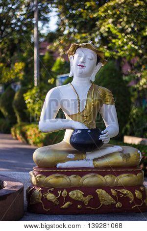 Statue of Upagupta in thai temple , art