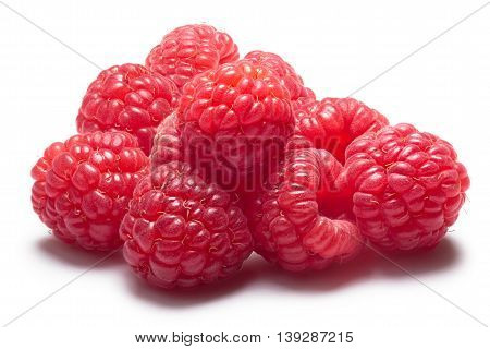 Pile Of Fresh Raspberries, Clipping Path