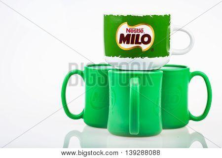 Kuala Lumpur, Malaysia - July 15Th 2016. Mug With The Famous Chocolate Brands, Nestle Milo. Nestle,