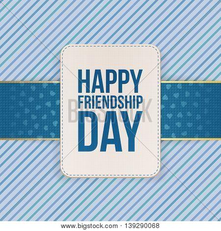 Happy Friendship Day Sale special Emblem. Vector Illustration
