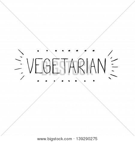 Hand draw lettering about vegetarian and all kinds of plant base diet. Flexitarian word in vector for menu cafe, bar social net, banners, web, print modern design