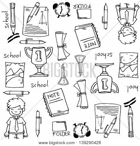 Big doodles element school education collection stock