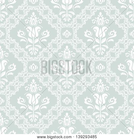 Oriental classic ornament. Seamless abstract background with repeating elements