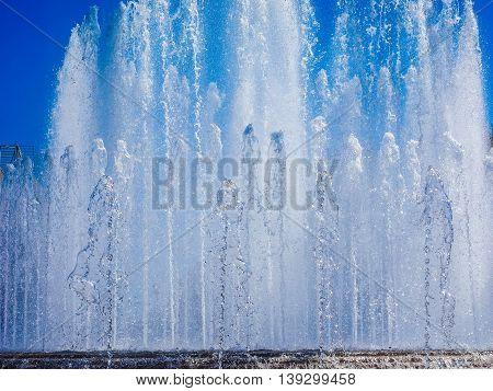 Fountain In Milan Hdr
