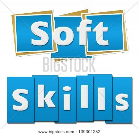 Soft skills text written over green background.