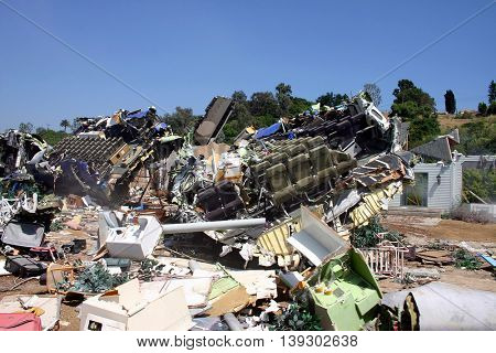 Plane crash site from Universal's summer blockbuster