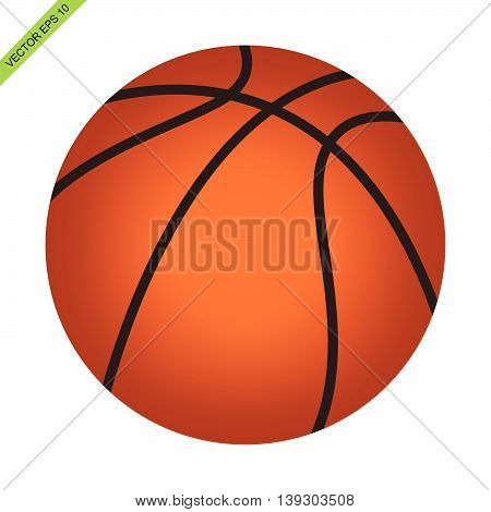 The isolated basket ball vector on white color background